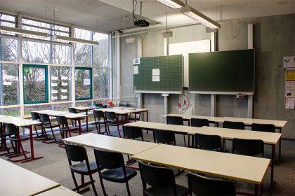 Klassenzimmer im neuen Gebäude
